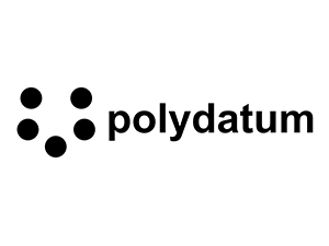 polydatum logo with five dots in a semi circle