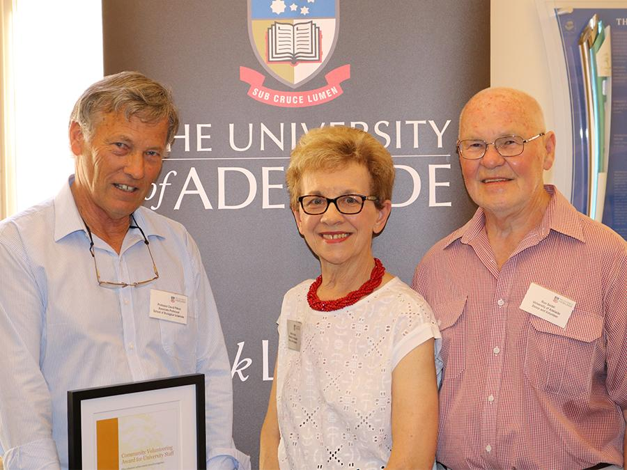 Professor David Paton Community Volunteering Award for Staff with Ron and Marilyn Seidel