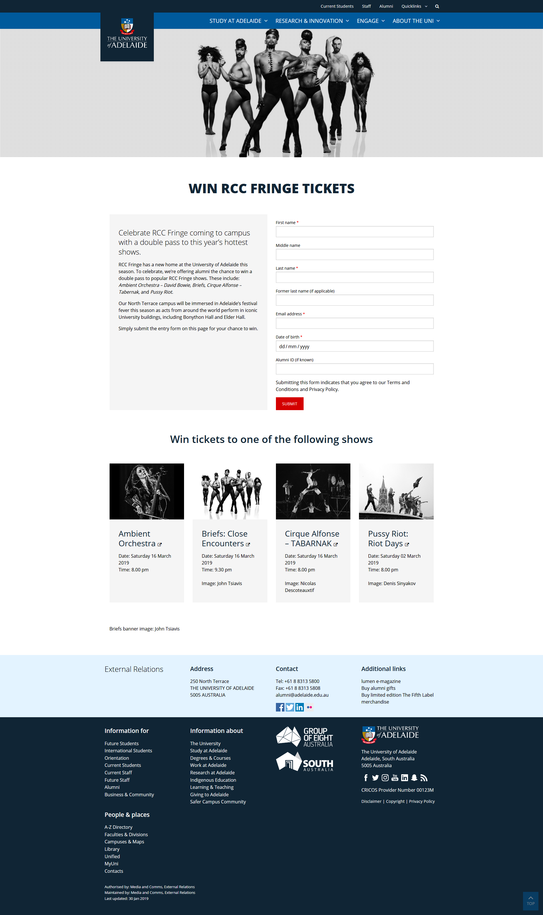 Example of a campaign page