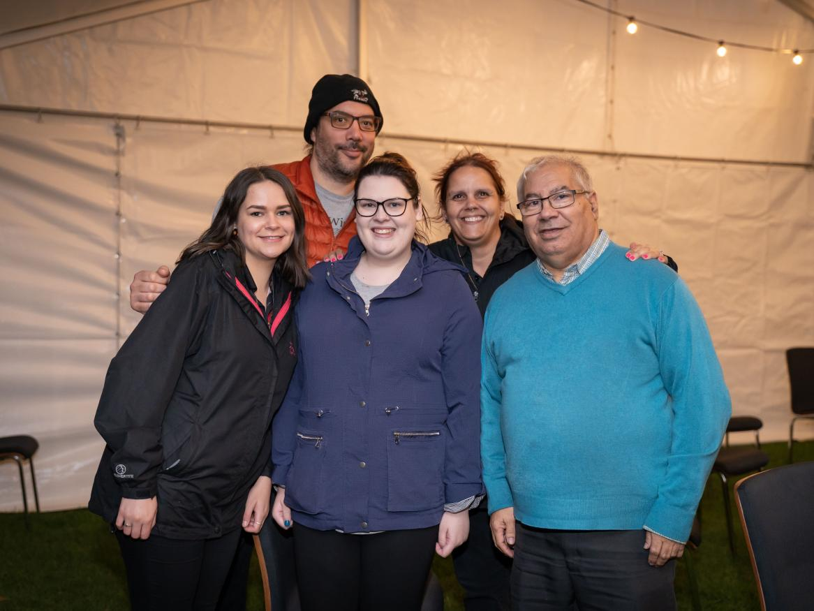 Uncle Rod with staff members from Wirltu Yarlu